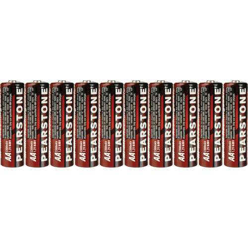 Pearstone AA NiMH Rechargeable Batteries (2300mAh, 10 Pack)