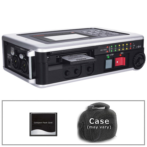 Fostex FR-2LE 2-Channel Digital Field Recorder Kit with CF Card and Case