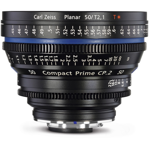 Zeiss Compact Prime CP.2 50 / T2.1 Cine Lens with Interchangeable Mount