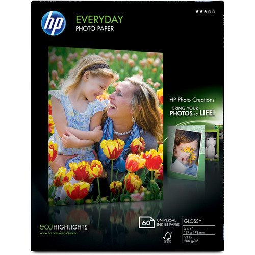 HP Everyday Glossy Photo Paper (5.0 x 7.0