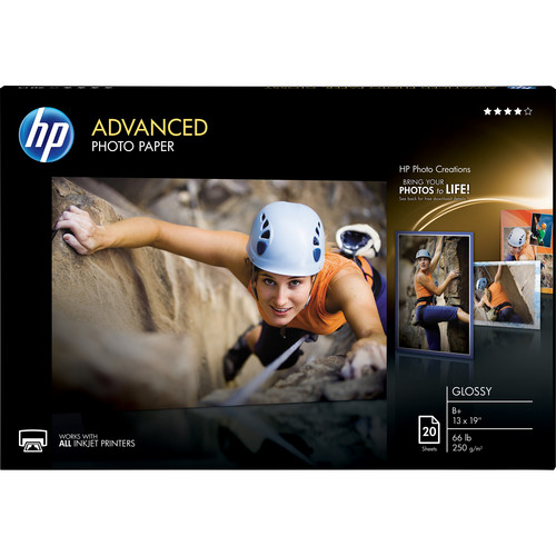 HP Advanced Photo Paper, Glossy (20 sheets, 13 x 19