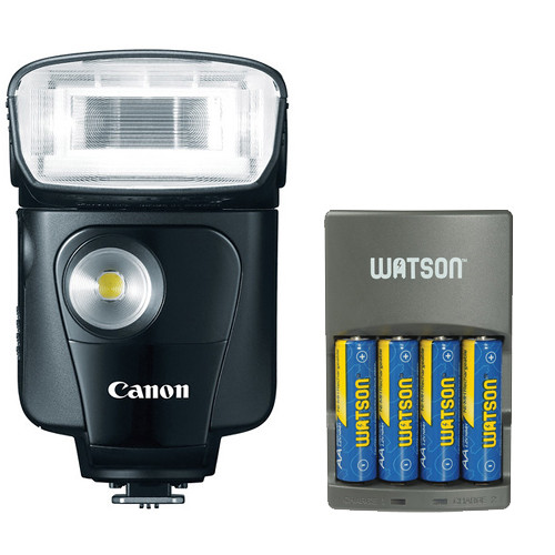 Canon Speedlite 320EX With 4-Hour Battery Charger Kit