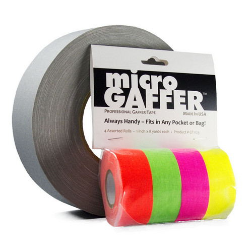 Visual Departures microGAFFER Fluorescent Tape Kit (4 Pack)