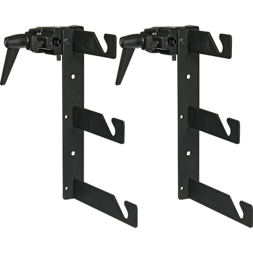 Impact Triple Background Hooks with Superclamps - Pair (Black)