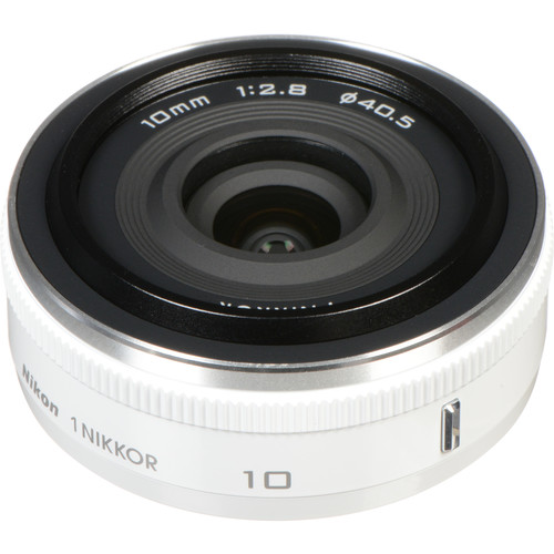 Nikon 1 Nikkor 10mm f/2.8 Lens (White) for CX Format