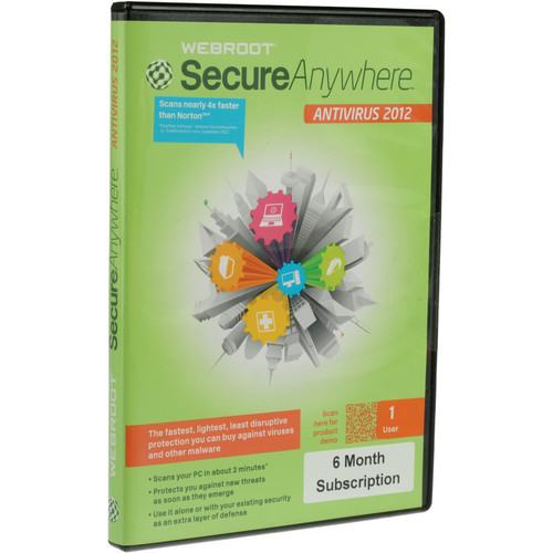 Webroot SecureAnywhere Antivirus Software (1-PC) - 6-Months