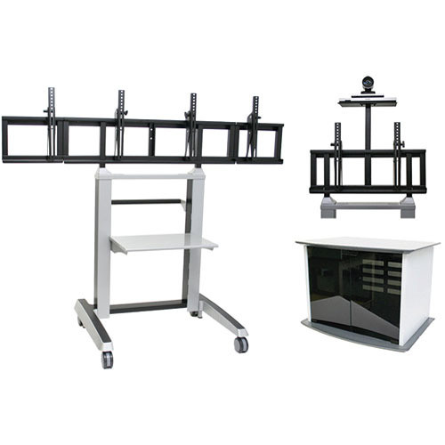 Vaddio Edge Double Wide Videoconferencing Cart (Assembled)