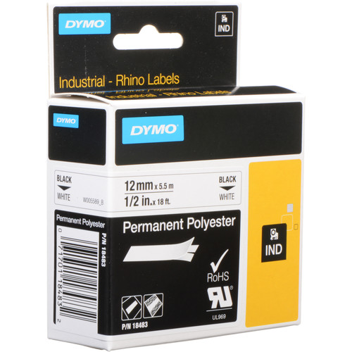 Dymo White Permanent Poly Labels (1/2