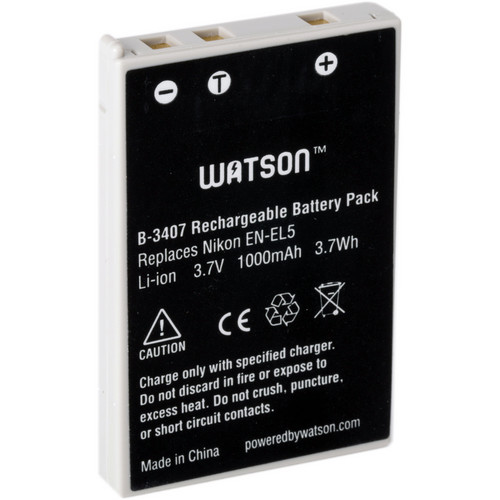 Watson EN-EL5 Lithium-Ion Battery Pack (3.7V, 1000mAh)