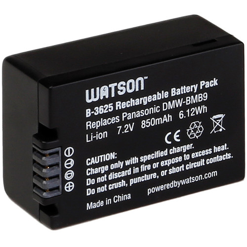 Watson DMW-BMB9 / BP-DC9 Lithium-Ion Battery Pack (7.2V, 850mAh)