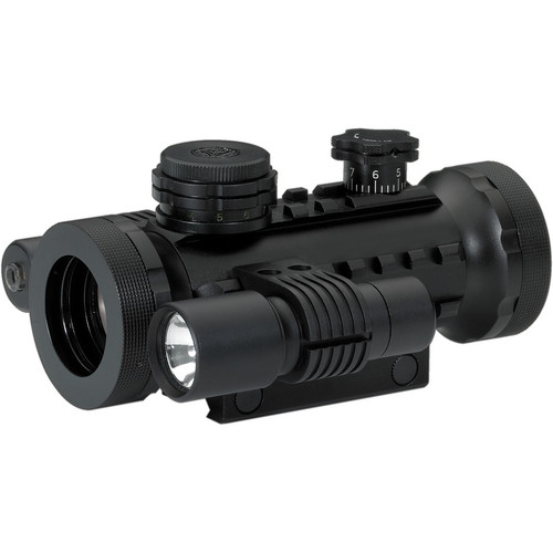 BSA Optics 30mm Illuminated Red Dot Sight with Laser and Light