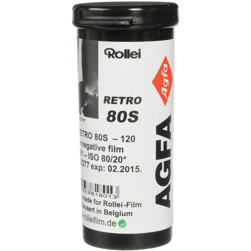 Rollei/AGFA Retro 80s 120 Black and White Negative Film (Pack of 5)