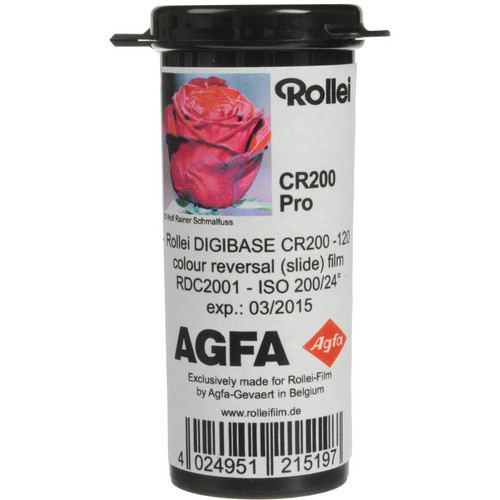 Rollei/AGFA Digibase CR 200 PRO Color Transparency Film (120 Roll Film, 5 Pack)