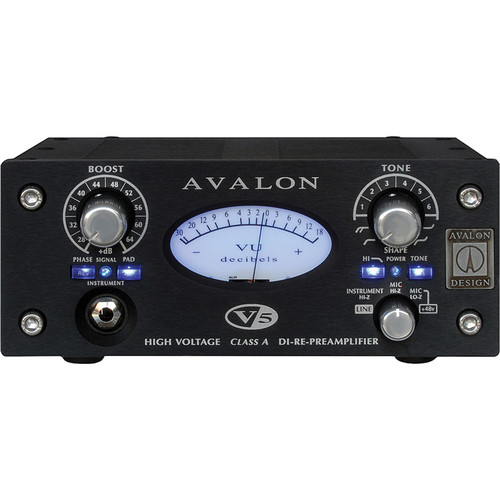 Avalon Design V5 Pure Class A Microphone Preamplifier (Black)
