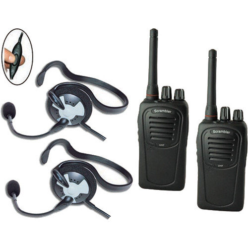 Eartec 2-User SC-1000 Two-Way Radio System with Fusion Inline PTT Headsets