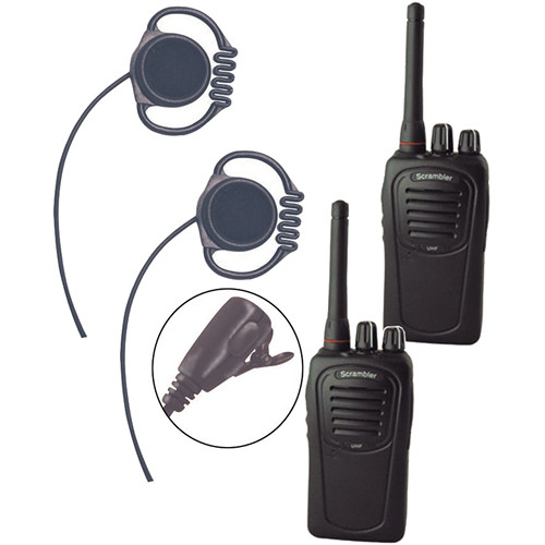 Eartec 2-User SC-1000 Two-Way Radio System with Loop Lapel Mic Headsets