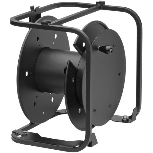 Hannay Reels AVD-3 Portable Cable Storage Reel With Slotted Divider Disc (Black)