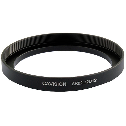 Cavision 12mm Thick Threaded Step-Up Ring - 72 to 82mm