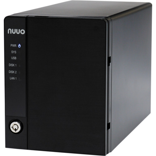 NUUO NVRmini2 NE-2040 NVR and Server (4-Channel, 2 Drive Bays, 3 TB)