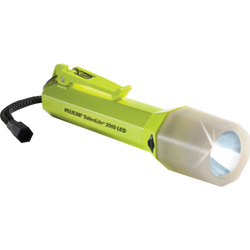 Pelican Sabrelite 2010 LED Flashlight (Yellow with Photo Luminescent Shroud)