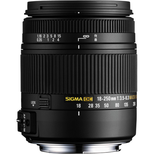 Sigma 18-250mm F3.5-6.3 DC Macro HSM for Sony Alpha Cameras