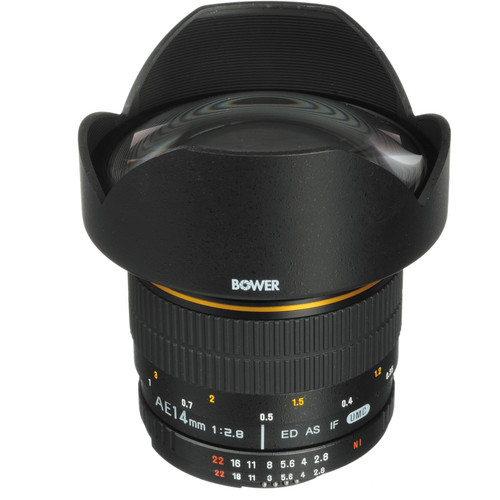 Bower 14mm f/2.8 Ultra Wide-Angle Lens with Focus Confirm Chip for Nikon