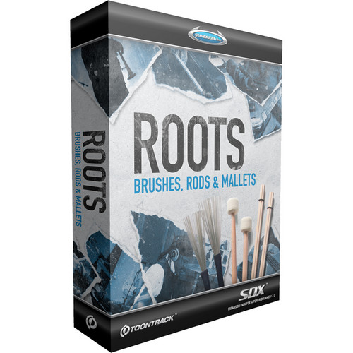 Toontrack Roots SDX - Brushes, Rods and Mallets