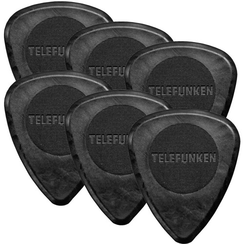 Telefunken Circle Grip 2mm Delrin Guitar Picks (6-Pack)