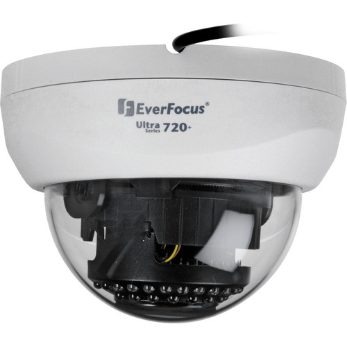 EverFocus Ultra 720+ TVL Indoor True Day/Night IR Mini Dome Camera (White, NTSC)