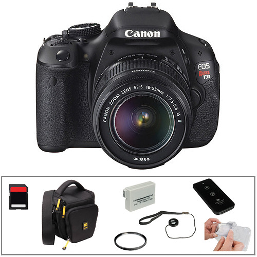 Canon EOS Rebel T3i DSLR Camera with 18-55mm f/3.5-5.6 IS II Lens Essential Kit