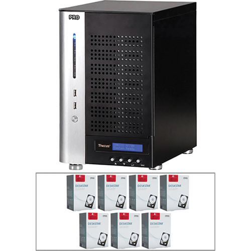 Thecus 28TB (7x 4TB) N7700PRO v2 7-Bay Tower NAS Server and Hard Drives Kit