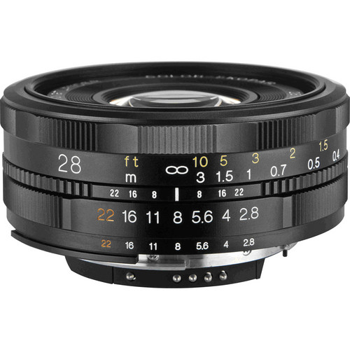 Voigtlander 28mm f/2.8 Color Skopar SL II Lens for Nikon