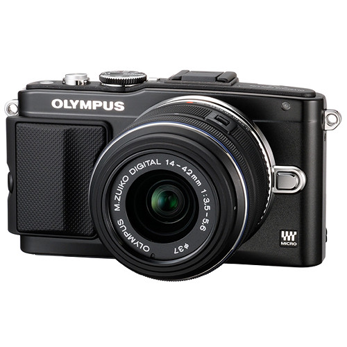 Olympus E-PL5 Mirrorless Micro Four Thirds Digital Camera with 14-42mm f/3.5-5.6 II R Lens (Black)