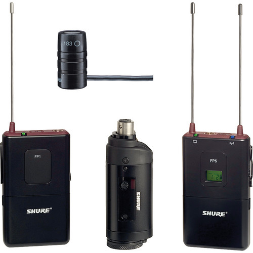 Shure FP Wireless Bodypack, Lavalier & Plug-on Combo System (H5 / 518 - 542MHz)
