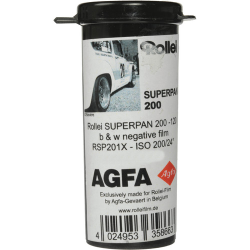 Rollei/AGFA Superpan 200 120 Format Black and White Negative Film (5 Pack)