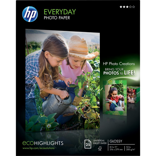 HP Everyday Glossy Photo Paper (8.5x11