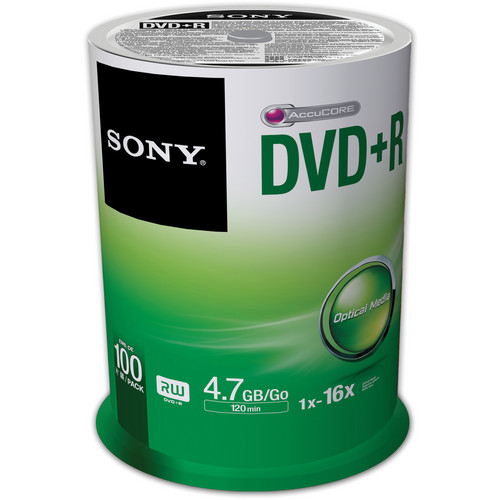 Sony Recordable Storage DVD+R (Pack of 100)