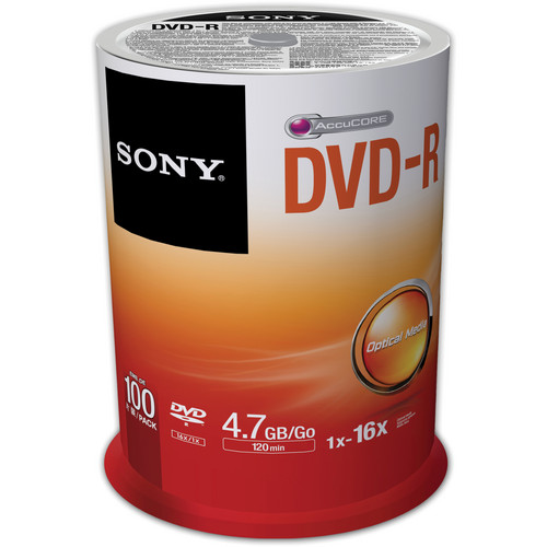 Sony Recordable Storage DVD-R (Pack of 100)