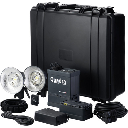 Elinchrom Quadra Hybrid Li-Ion Pro 2 Light Kit with S Flash Heads