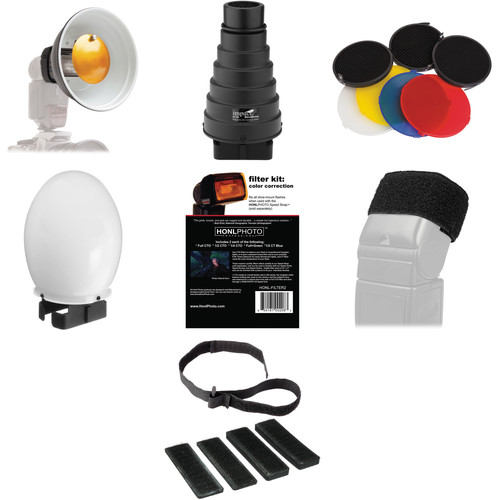 Impact Syl Arena Strobros On-Camera Flash Light-Modifier Kit