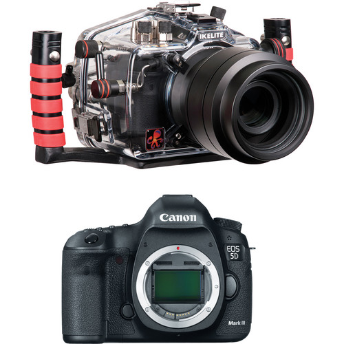 Ikelite 6871.03 Underwater Housing Kit with Canon EOS 5D Mark III Digital Camera Body