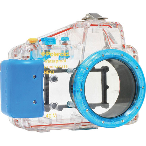 Polaroid Dive-Rated Waterproof Underwater Housing Case for Sony Alpha NEX-3 Digital Camera with 16mm Lens