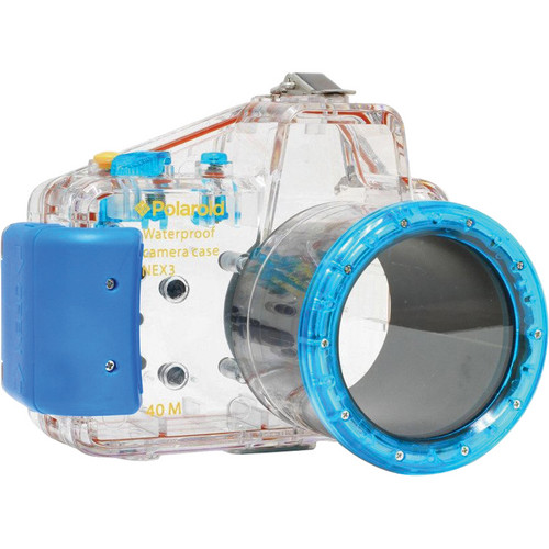 Polaroid Dive-Rated Waterproof Underwater Housing Case for Sony Alpha NEX-3 Digital Camera with 18-55mm Lens