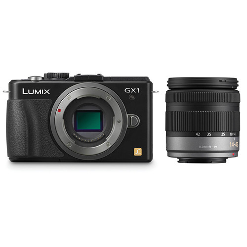 Panasonic DMC-GX1 Mirrorless Micro Four Thirds Digital Camera Kit with 14-42mm f/3.5-5.6 Lens (Black)