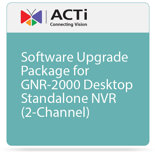 ACTi Software Upgrade Package for the GNR-2000 NVR (2-Channel)