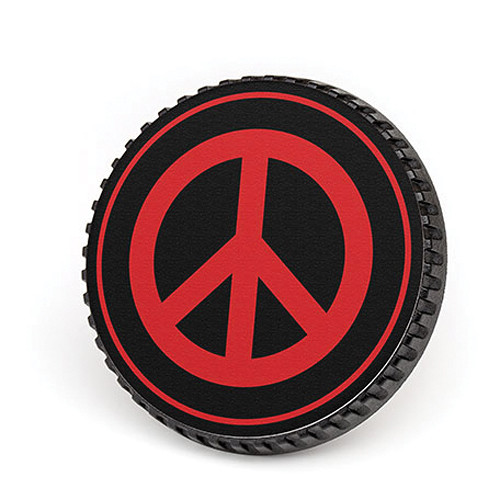 LenzBuddy Peace Sign Body Cap (Black & Red)