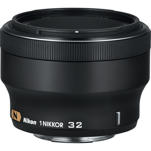 Nikon 1 NIKKOR 32mm f/1.2 Lens (Black)