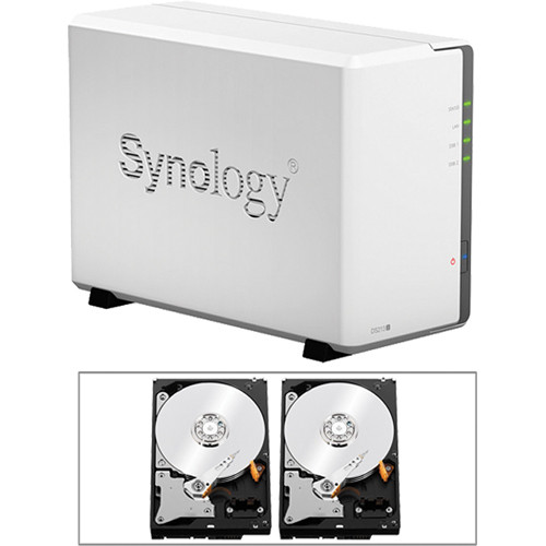 Synology 6TB (2 x 3TB) DS213J DiskStation 2-Bay NAS Server Kit with Drives