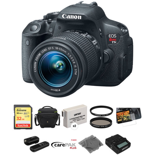 Canon EOS Rebel T5i DSLR Camera with EF-S 18-55mm f/3.5-5.6 IS STM Lens Deluxe Kit
