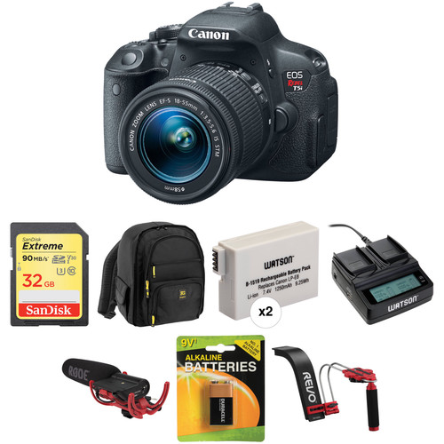Canon EOS Rebel T5i DSLR Camera with EF-S 18-55mm f/3.5-5.6 IS STM Lens Video Kit